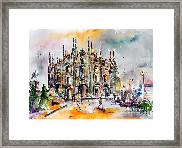 Duomo Milan Italy Framed Print