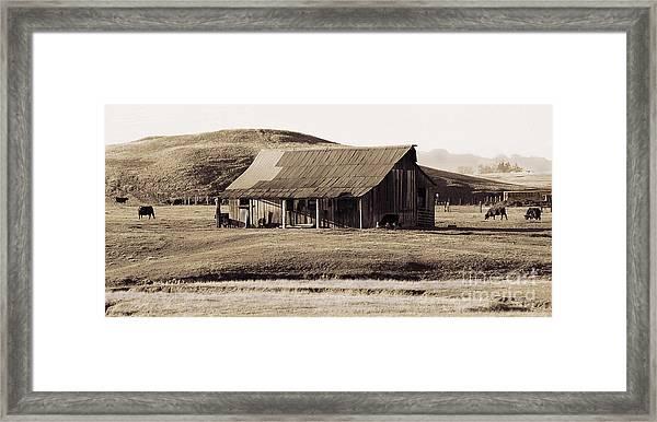 Durham California Barn Framed Print
