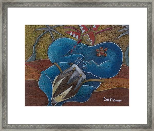 Framed Print featuring the painting Duro A Los Cueros by Oscar Ortiz