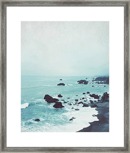 Dusk At The Sea Framed Print