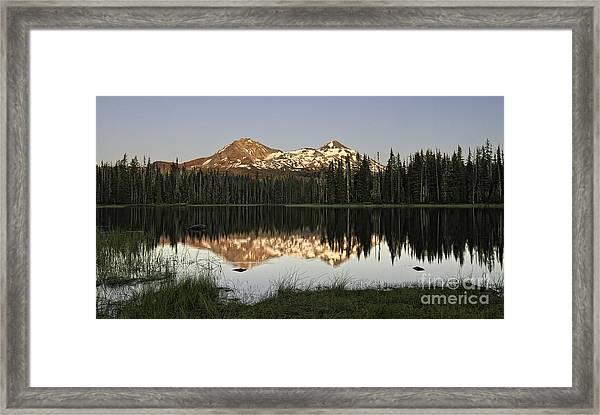 Dusk In The Cascades Framed Print