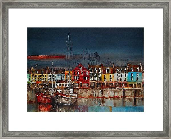 Dusk On Cobh Harbour Cork Framed Print