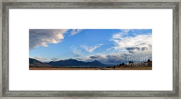 Dusk Over The Gallatin Range Framed Print