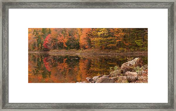 Dusk Reflections Framed Print