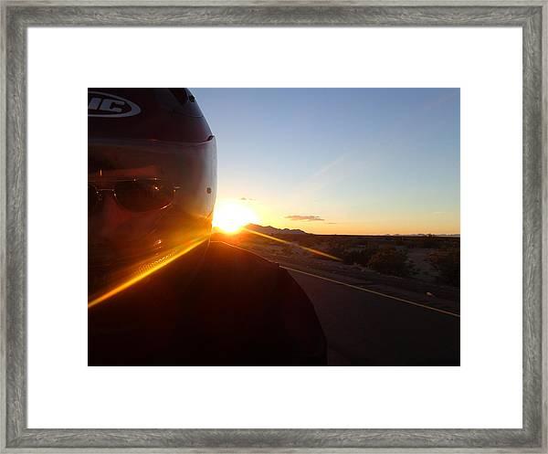 Dusk Rider Framed Print