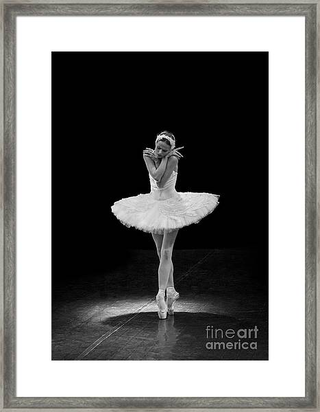 Dying Swan 5. Framed Print