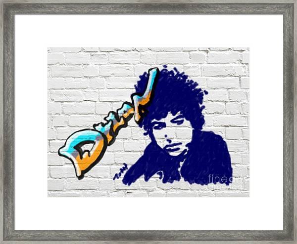 Dylan Graffiti Framed Print