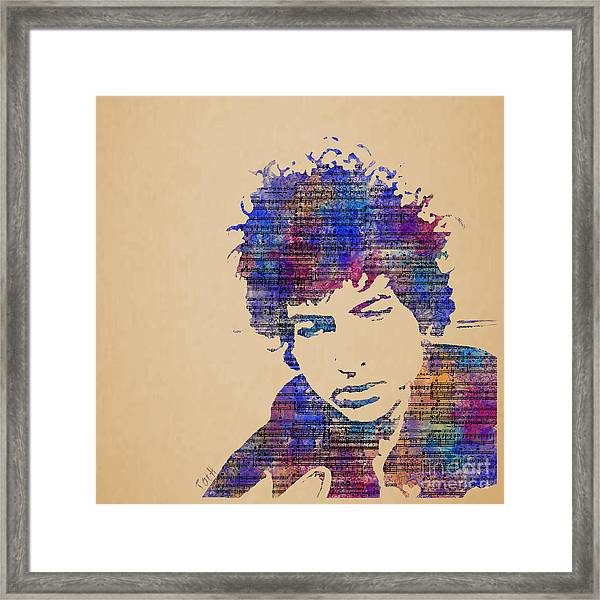 Dylan Watercolor Framed Print