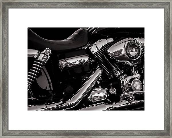Dyna Super Glide Custom Framed Print