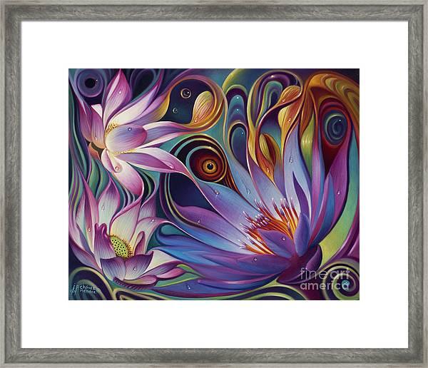 Dynamic Floral Fantasy Framed Print