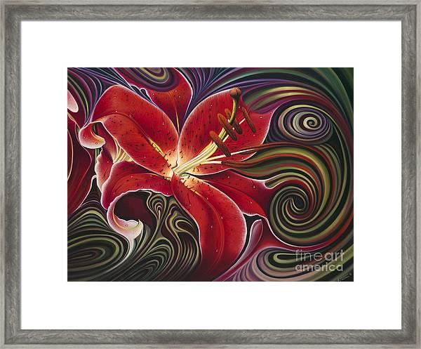 Dynamic Reds Framed Print