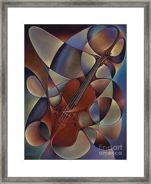 Dynamic Violin Framed Print
