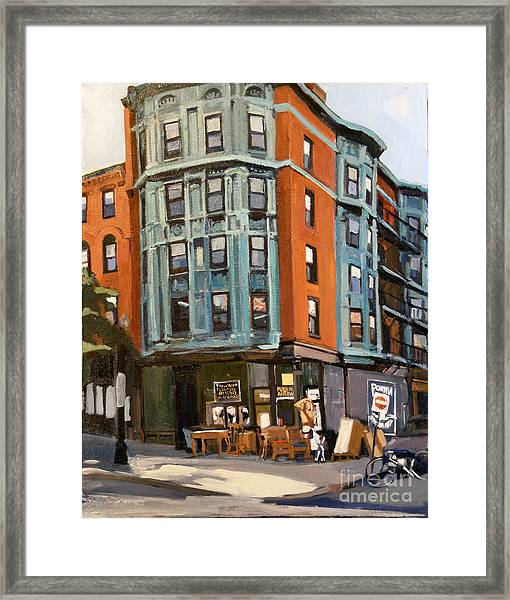 E And W Broadway Framed Print
