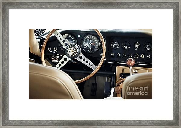 E Type Jag - Interior Framed Print