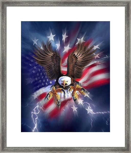 Eagle Burst Framed Print