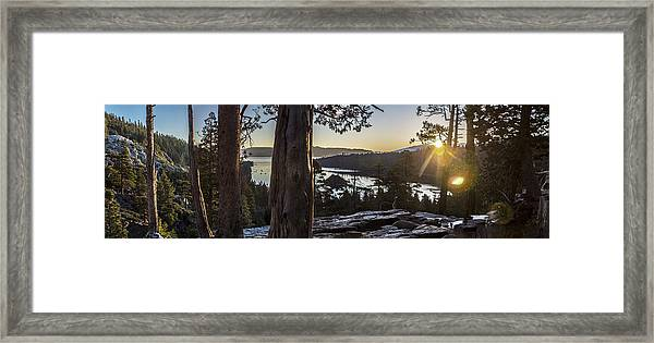 Eagle Falls Exploration Framed Print