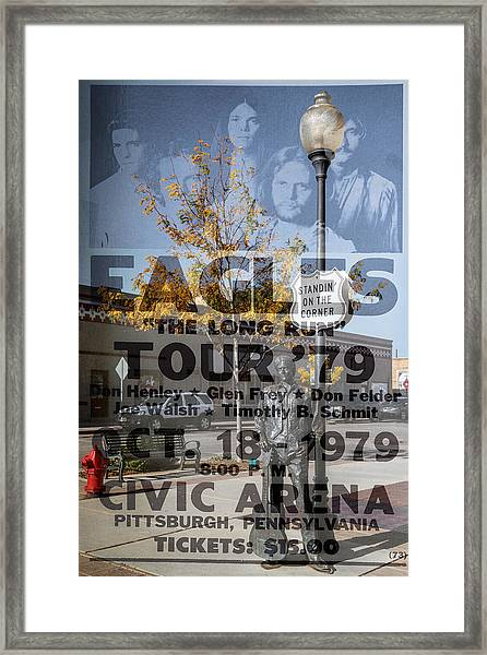Eagles The Long Run Tour Framed Print