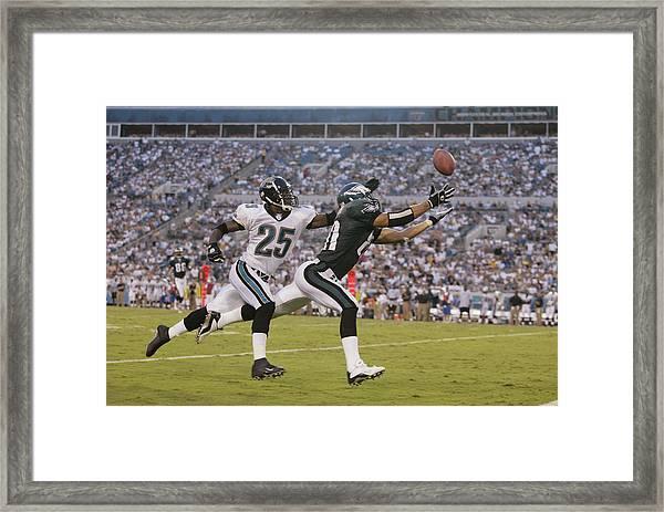 Eagles V Jaguars Framed Print by Andy Lyons