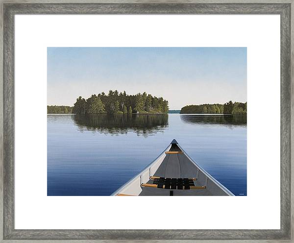 Early Evening Paddle Aka Paddle Muskoka Framed Print