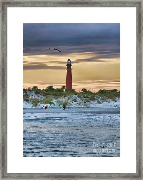 Early Evening Sky Framed Print