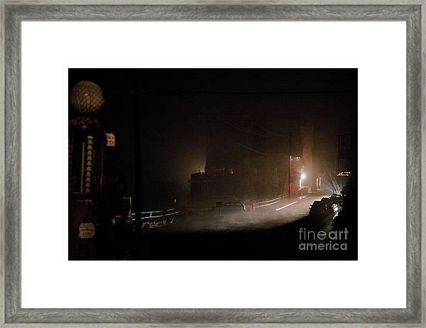 Early Misty Morning In Jerome Az Framed Print