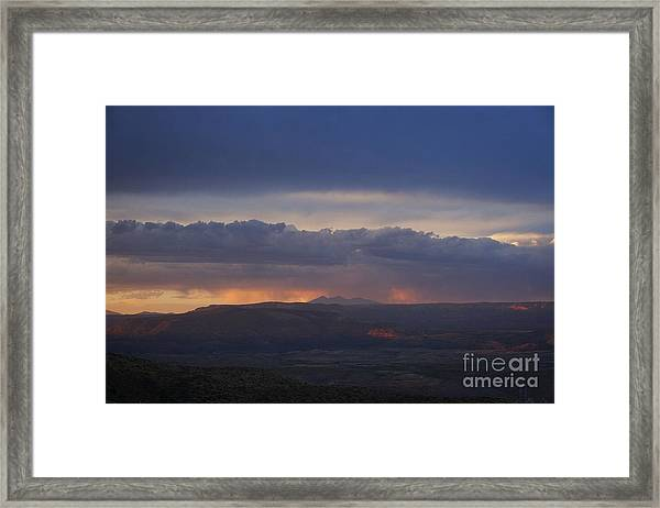 Early Monsoon Sunset Over San Francisco Peaks Framed Print