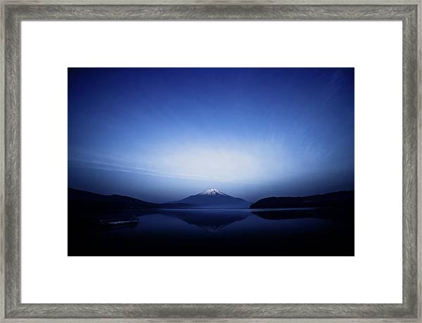 Early Morning Blue Symbol Framed Print by Takashi Suzuki