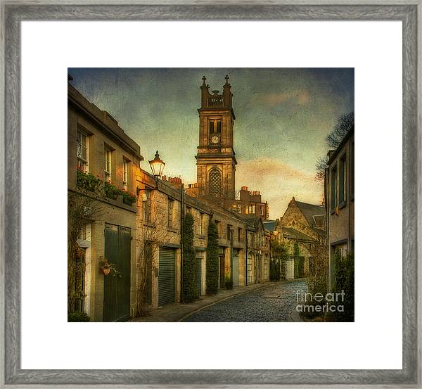 Framed Print featuring the photograph Early Morning Edinburgh by Lois Bryan