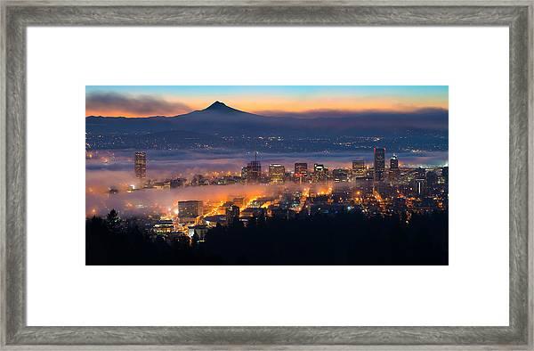Early Morning Fog Framed Print