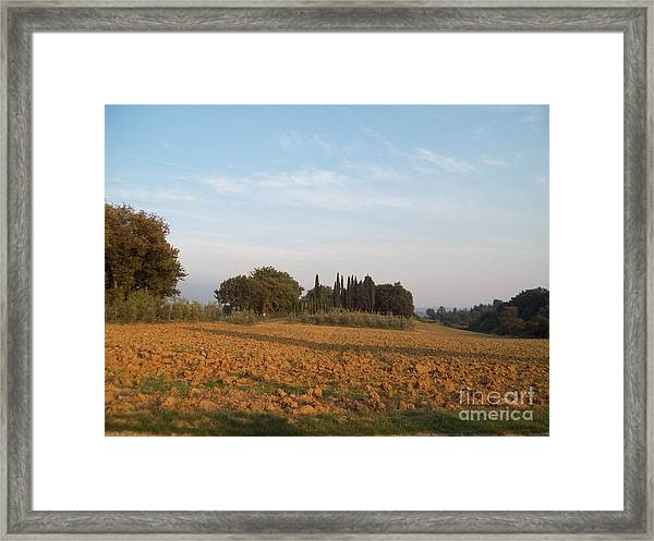 Early Morning In Loppiano Framed Print