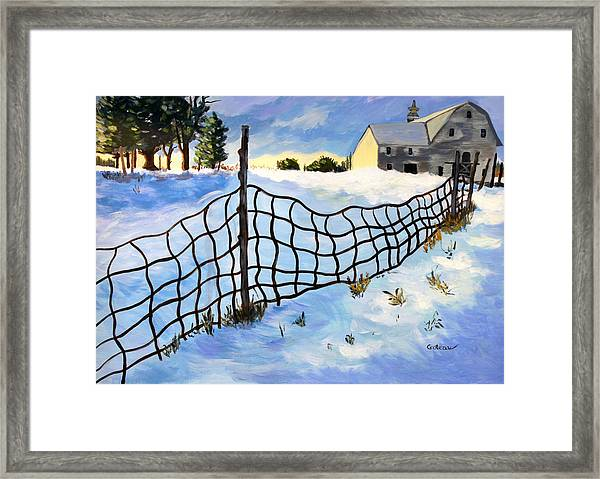 Early Morning In Winter Framed Print by Jane Croteau