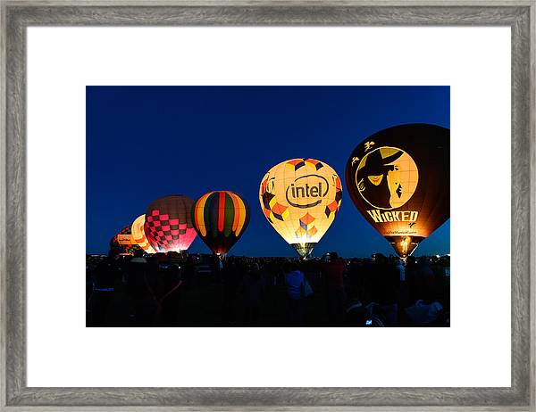 Early Morning Launch Framed Print