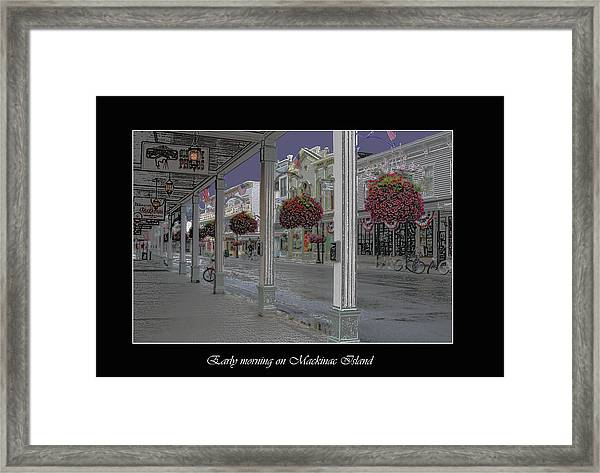 Early Morning On Mackinac Island Framed Print
