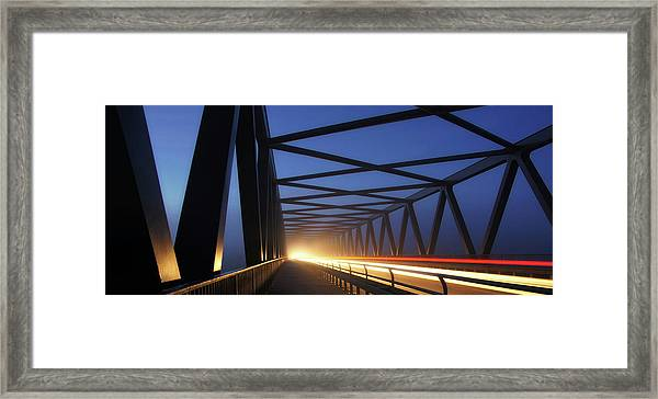 Early Morning Traffic Framed Print