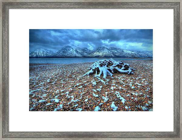 Early Snow On The Tetons Framed Print