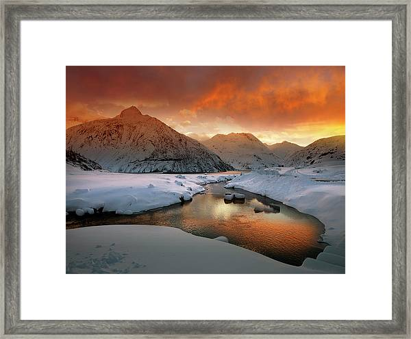 Early Winter Mood Framed Print by Nicolas Schumacher
