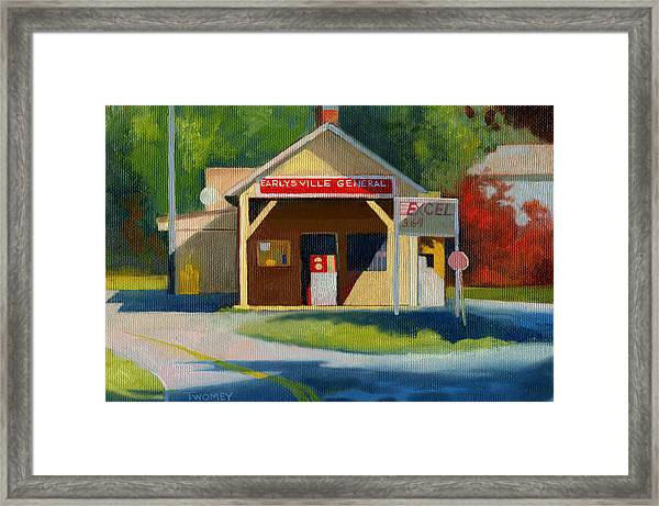 Earlysville Virginia Old Service Station Nostalgia Framed Print