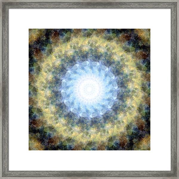 Earth And Sky Mandala Kaleidoscope Framed Print