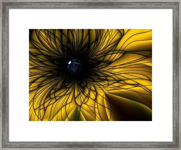 Earth Flower Framed Print