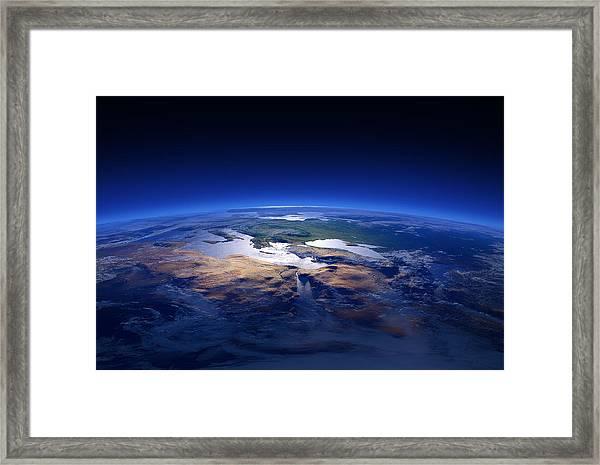 Earth - Mediterranean Countries Framed Print