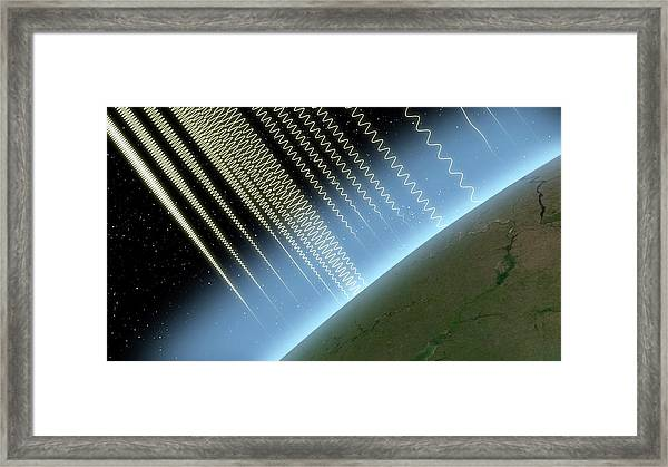 Earth's Atmosphere And Radiation Framed Print