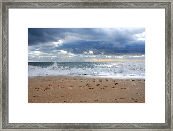 Earth's Layers - Jersey Shore Framed Print
