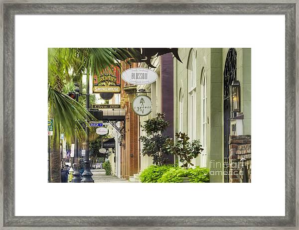 East Bay Street Charleston Sc Framed Print