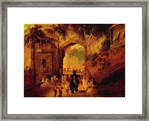 East Gateway, Patna View Of The East Gateway Of The City Framed Print