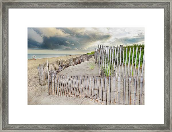 East Hampton Beach, Long Island, New Framed Print