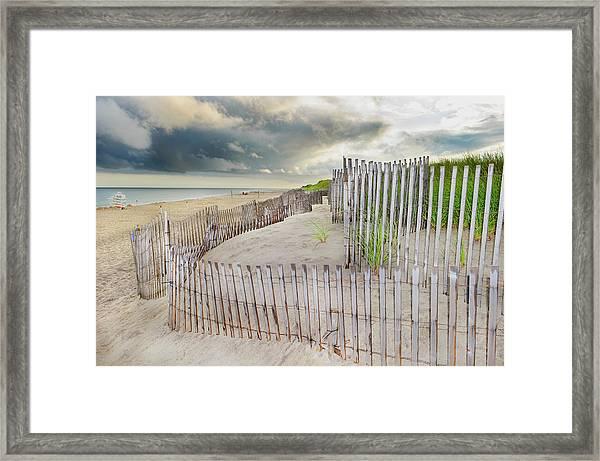 East Hampton Beach, Long Island, New Framed Print