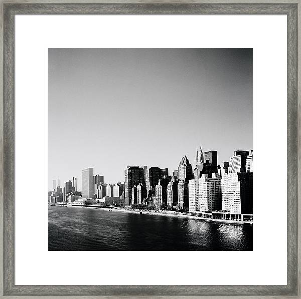 East River New York Framed Print