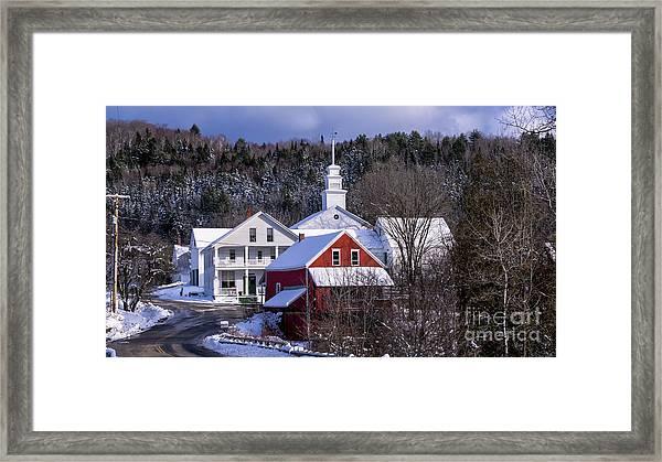 East Topsham Vermont. Framed Print