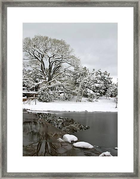 East Verde Winter Crossing Framed Print
