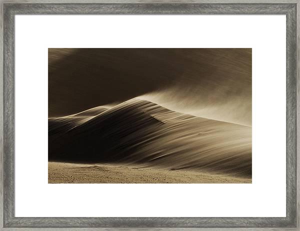 East Wind In The Namib Desert Framed Print
